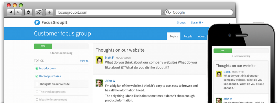 FocusGroupIt Screenshot
